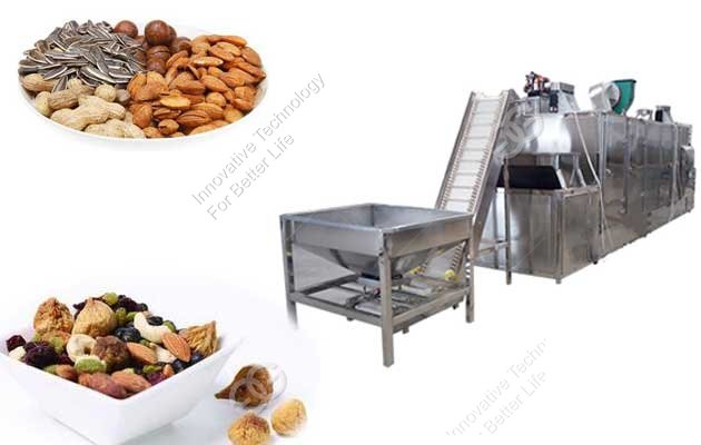 Continuous Peanut Drying Machine|Groundnut Roasting Machinery